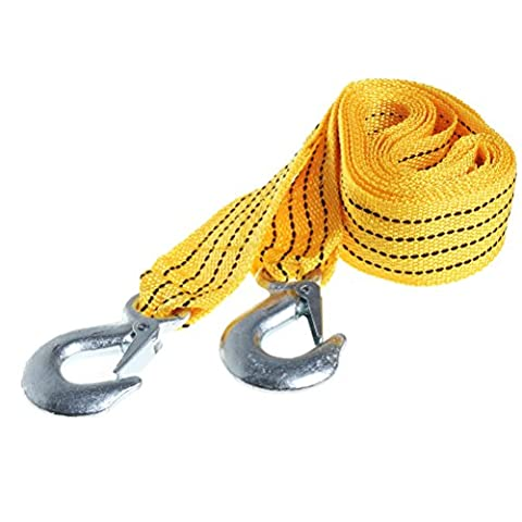 Pengxiaomei Car Towing Rope 1.2 Inch X 10 Ft.Heavy Duty 3 Ton Tow Strap Rope with Hooks, 10,000 Lb - Tow Rope Hook