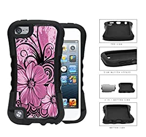 Floral Abstract Art (PINK) For SamSung Galaxy S3 Case Cover 2-piece Dual Layer High Impact Black Silicone Cover