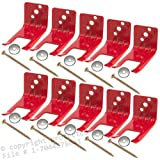 Amerex 16591 - 10 (10 Wall Hooks) Fire Extinguisher Wall, Hook, Mount, Bracket, Hanger for 5 to 10 lb. or Extinguishers with Valve Body Slots, Free Screw and Washer Included