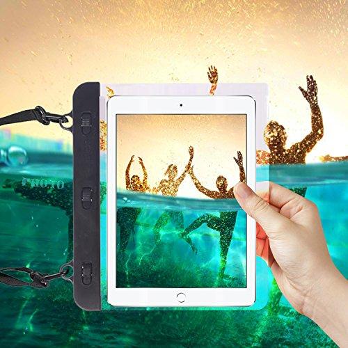 "I-Sonite Black Universal Waterproof Tablet Case Bag with Adjustable Neck Strasp Water For iBall Slide 3G Q7271-IPS20 - 7"""