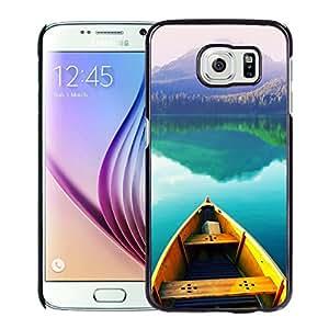 Boat On Still Lake Hard Plastic Samsung Galaxy S6 G9200 Protective Phone Case