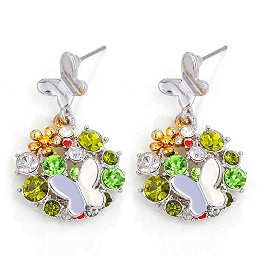[KaiSasi Fashion Jewelry Flower Earrings Temperament(C3)] (Rock And Roll Costumes Diy)