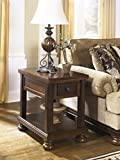 Ashley Furniture Signature Design - Porter End Table - Rustic Style Chair Side Accent Table - Rectangular - Brown