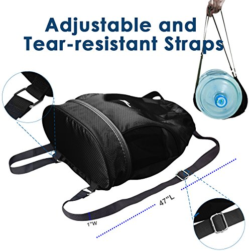 YOULERBU Gym Drawstring Bag, Sports Backpack With Shoe Compartment, Swim Bag With Wet Dry Compartments for Women Men by YOULERBU (Image #6)