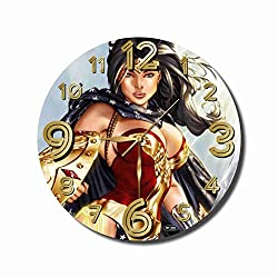 Tangerine FBA 2 Wonder Woman 11.4'' Handmade Wall Clock - Get Unique décor for Home or Office – Best Gift Ideas for Kids, Friends, Parents and Your Soul Mates