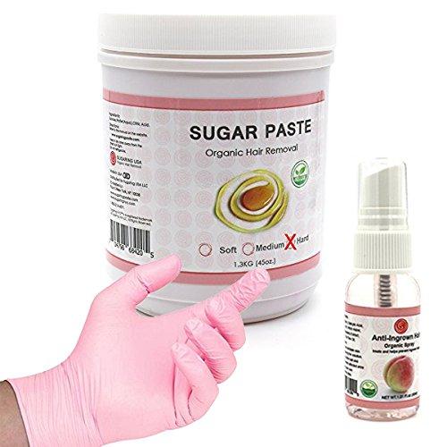Sugaring Wax Hard for Brazilian with Anti Ingrown Solution, and 4 sugaring (Brazilian Sugar Wax)