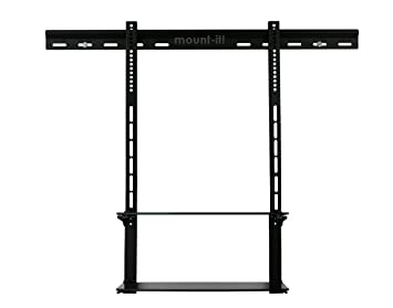 mountit low profile flat panel tv mount and glass center combo - Tv Mount With Shelf