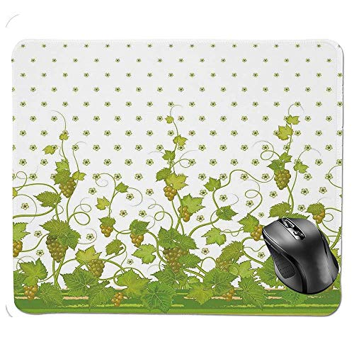 SYMSPAD Ergonomic Mouse pad,Flowers Cluster Sherry Leaf Province Garden Retro Refreshing Tasty Countryside Mouse Pad 8.6 X 7.1 in