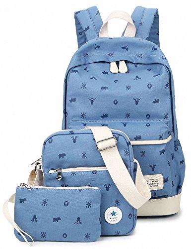 7228bb846218 Women Backpack Cute Canvas School Bag Vintage Laptop Travel ...