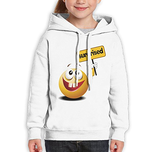 Grass Cartoon Smiling Face Surprised Youth Custom Hoodie 100% Cotton Fashion Keep Warm Sweatshirt Hooded Pullover For Girls & Boys L White (Creed White Soap)