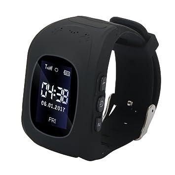 Docooler Niños Reloj Inteligente Teléfono para Localizador LBS Tracker con Ranura para Tarjeta SIM Monitor Remoto