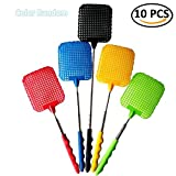 IYSHOUGONG 10 Pcs Plastic Swatter Telescopic Extendable Flapper Fly Prevent Pest Mosquito Tool,Color Random