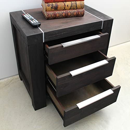 International Caravan Furniture Piece Ralph 3-Drawer Side Table