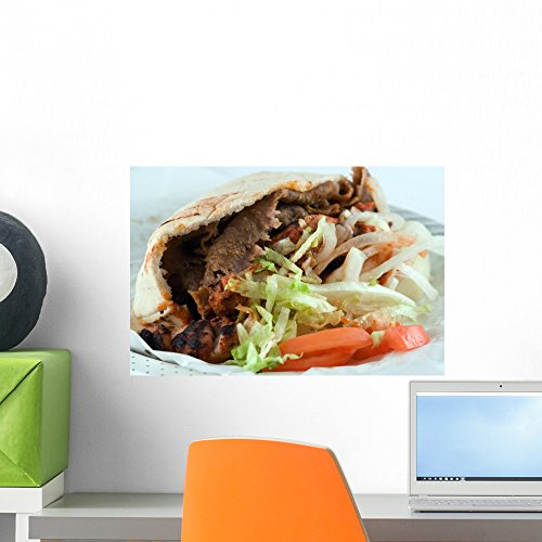 Wallmonkeys Donner Kebab Wall Decal Peel and Stick Graphic WM335539 (18 in W x 12 in H)