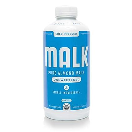 MALK, Almendra sin edulcorar, sin leche, sin suela ni gluten ...