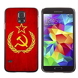 Shell-Star ( National Flag Series-Soviet Union ) Snap On Hard Protective Case For Samsung Galaxy S5 V SM-G900 by heywan