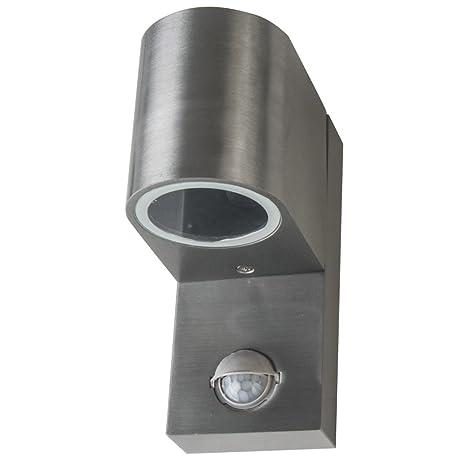 Acero inoxidable de pared para exteriores con sensor de movimiento Grafner Down exterior lámpara 1 x