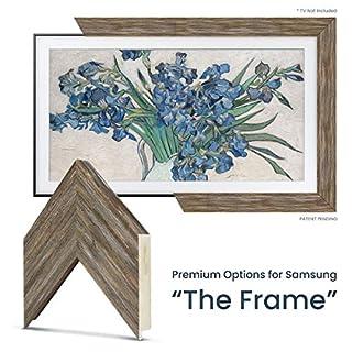 "Deco TV Frames - Distressed Barnwood Frame Custom for Samsung The Frame TV (49"")"