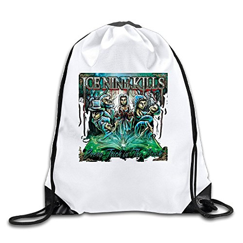 Classic Customized Design Ice Nine Kills American Metalcore Band Drawstring Backpack Travel Bag Drawstring Backpack Travel Bag