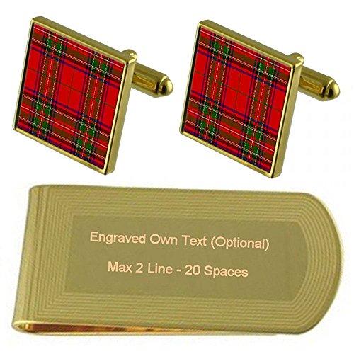 Money Tartan Engraved Clan Clan Gold Tone Clip Stuart Tartan Stuart rvq7r8