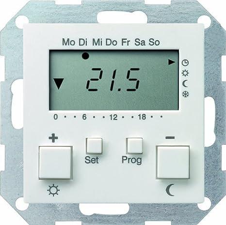 Gira température ambiante Régulateur 237003 230 V M Horloge Système 55 Reinweiss 237003