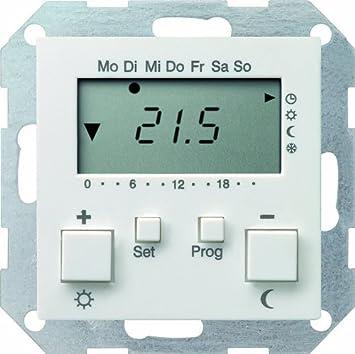 Gira 237003 Raumtemperatur Regler 230 V Mit Uhr System 55 Reinweiss