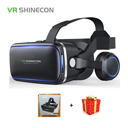 df0d68eca5ee Image Unavailable. Image not available for. Color  Shinecon 6.0 Casque VR  Virtual Reality Glasses 3D Goggles Headset Helmet for Smartphone Smart Phone  ...