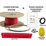 45 Sqft Warming Systems 120 V Electric Tile Radiant Floor Heating Cable with Touch Screen Programmable Thermostat