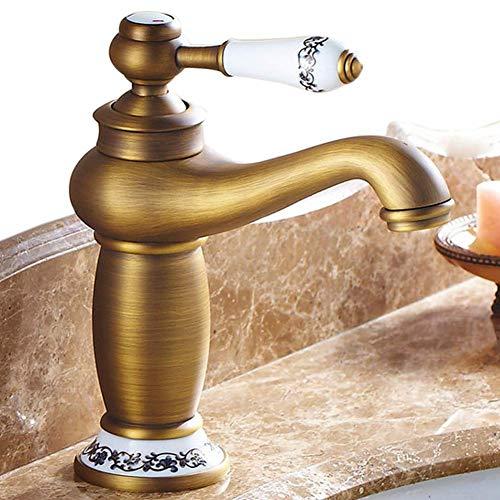 - Beelee Single Handle Bathroom Sink Faucet Lavatory Faucet Basin Vanity Sink Faucet Contemporary One Hole Deck Mount, Antique Brass