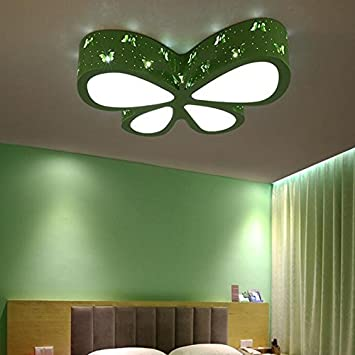 Amazoncom Childrens Room Color Butterfly LED Ceiling Lamp Baby - Butterfly lights for bedroom