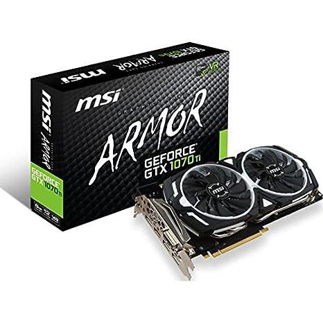 MSI GeForce GTX 1070 Ti ARMOR 8G - Tarjeta Gráfica ARMOR ...