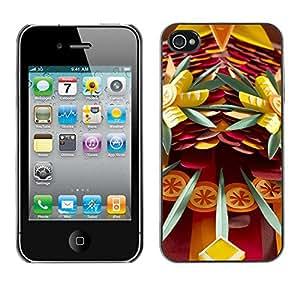 X-ray Impreso colorido protector duro espalda Funda piel de Shell para Apple iPhone 4 / iPhone 4S / 4S - Daggers Danger Fun Abstract Art
