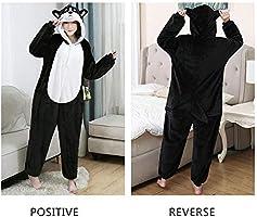 Pijama Unisex de Felpa de una Sola Pieza, Disfraz de Husky de ...