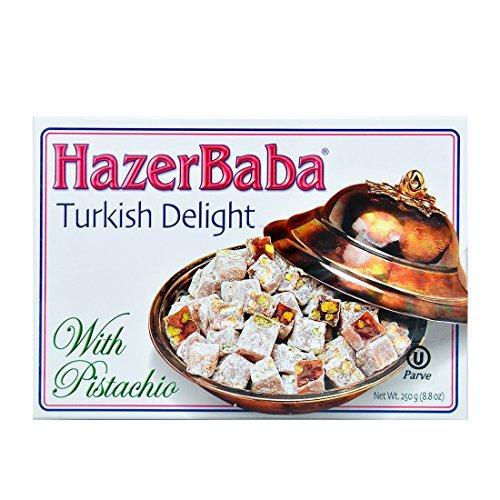 (Hazerbaba Turkish Delight w/ Pistachio 250g)
