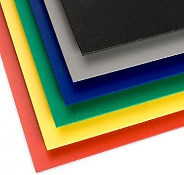 PVC Espumado Plancha Medidas 200cm x 100cm Grueso 3mm Color negro