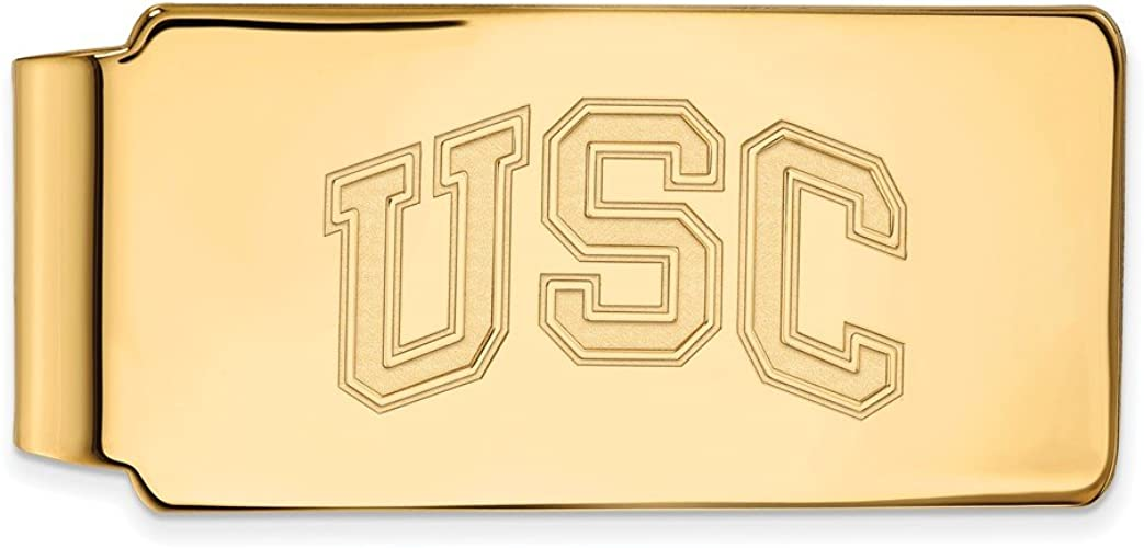 Money Clip USC 14k Yellow Gold LogoArt Official Licensed Collegiate University of Southern California