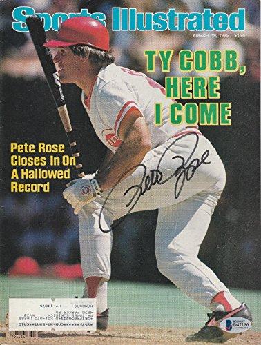 Pete Rose Signed Auto'd Sports Illustrated Magazine Bas Coa Cincinnati Reds B - Beckett Authentication