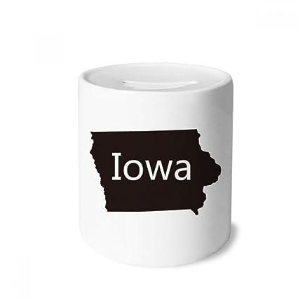 Iowa On Usa Map.Amazon Com Diythinker Iowa America Usa Map Silhouette Money Box