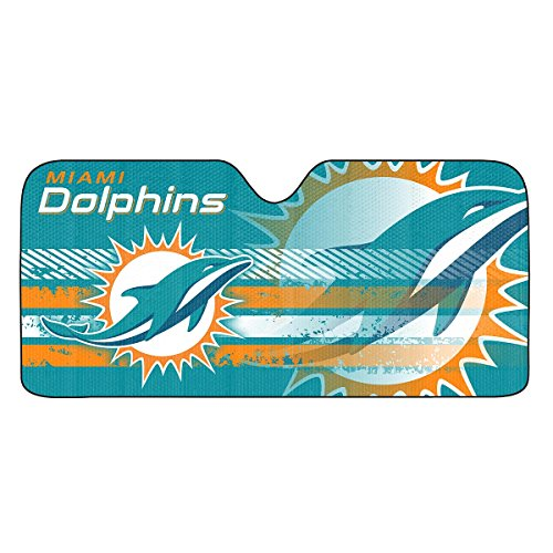 NFL Miami Dolphins Universal Auto Shade, Teal (Dolphins Nfl Accessories Home Miami)