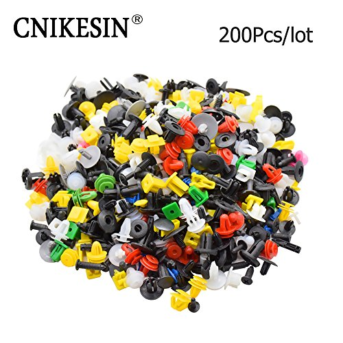 200pcs-mixed-auto-fastener-vehicle-car-bumper-clips-retainer-fastener-rivet-door-panel-fender-liner-