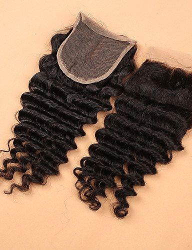 Faisceaux Part De 20 Vague Avec Profonde Cheveux 4 middle Jff Fermeture Slove Dentelle Péruvien Armure En 1pc 20 qnv4WWRT