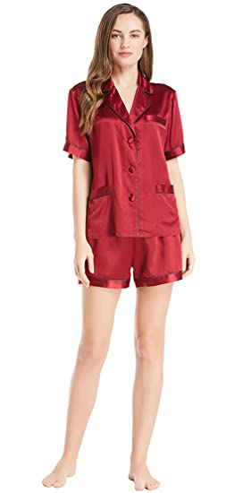 6cbe6f57be3383 LILYSILK Women s Silk Pyjama Shorts V Neck Summer Ladies Sleepwear Short 100%  22 Momme Pure