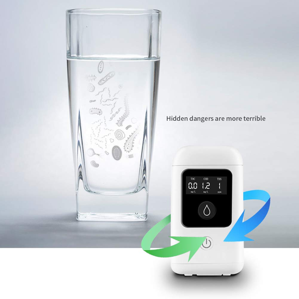 BEYST Digital Water Quality Tester with Dissolved Oxygen Sensor,Can detect Organic Pollution and Harmful substances, for Swimming Pool Spa Aquarium Home Use (White)