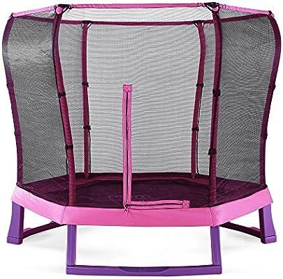 Plum productos 7 pies Junior Jumper Cama Elástica y caja (rosa ...