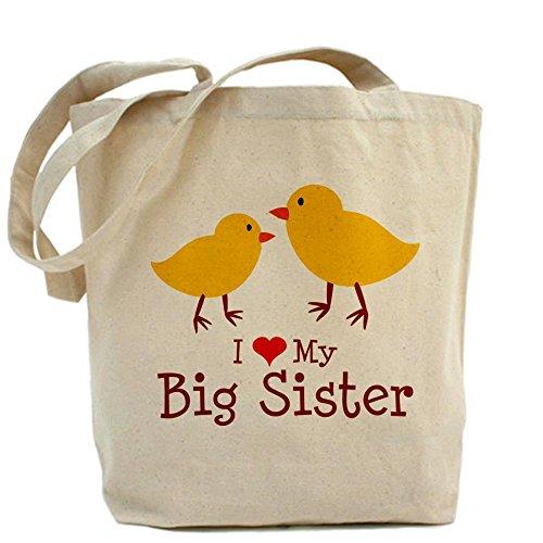 CafePress I Love My Big Sister Tote Bag - Standard Multi-color