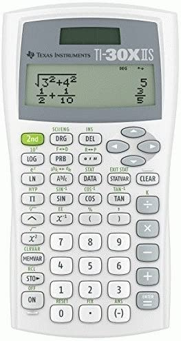 Texas Instruments TI30XIISWHITE 2-Line Scientific Calculator PackageQuantity: 1 Color: White, Model: TI30XIISWHITE, Electronic Store 51AbaCuMI7L