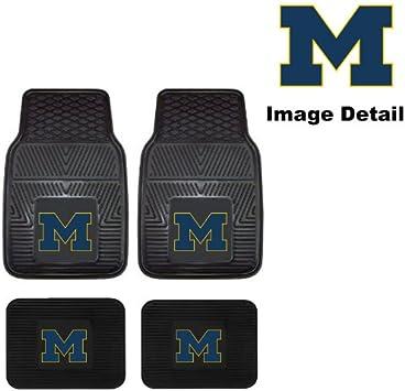 Collegiate Michigan Wolverines Pilot Alumni Group FM-902 Universal Fit Four Piece Floor Mat Set