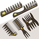 5 PCS Hair Comb Styling Set Barber Hairstylist Accessories - Professional Shaping