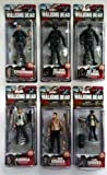 The Walking Dead Series 4 - The Complete Set of ALL SIX Figures - Includes Walgreens Exclusive Rick Grimes, Carl Grimes, Andrea, The Governor, Riot Gear Zombie, Gas Mask Riot Gear Zombie by Unknown