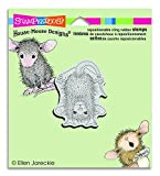 Stampendous Stampendous House Mouse Cling Stamp 3.5-inch x 4-inch HanDStand, Acrylic, Multicolour by Stampendous